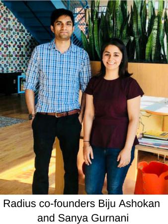 Radius co-founders Biju Ashokan and Sanya Gurnani (2)